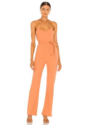 Lovers + Friends Langley Jumpsuit in Peach. Size XL.