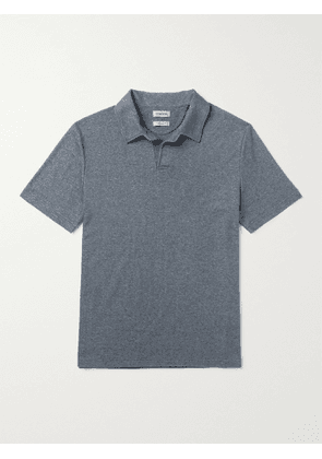 DE BONNE FACTURE - Cotton-Terry Polo Shirt - Men - Blue - S