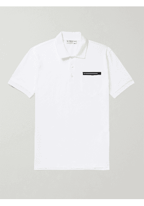 GIVENCHY - Logo-Detailed Cotton-Piqué Polo Shirt - Men - White - XS