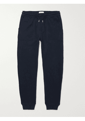 MR P. - Tapered Loopback Cotton-Jersey Sweatpants - Men - Blue - S