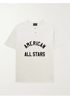 FEAR OF GOD - All Star Flocked Cotton-Jersey T-Shirt - Men - Neutrals - S