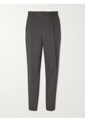 MR P. - Pleated Linen and Cotton-Blend Trousers - Men - Black - UK/US 36