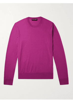 DOLCE & GABBANA - Wool Sweater - Men - Purple - IT 46