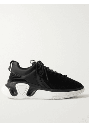 BALMAIN - B-Runner Leather-Trimmed Mesh and Rubber Sneakers - Men - Black - EU 41