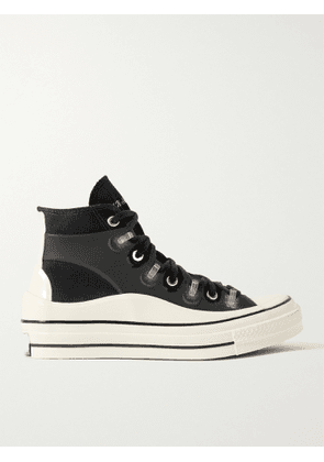 CONVERSE - Kim Jones Chuck 70 Canvas and Rubber High-Top Sneakers - Men - Black - UK 12