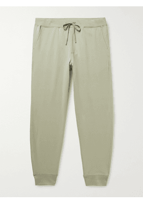 HANDVAERK - Flex Tapered Loopback Pima Cotton-Blend Jersey Sweatpants - Men - Green - M