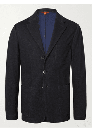 BARENA - Unstructured Cotton and Linen-Blend Jersey Blazer - Men - Blue - IT 44