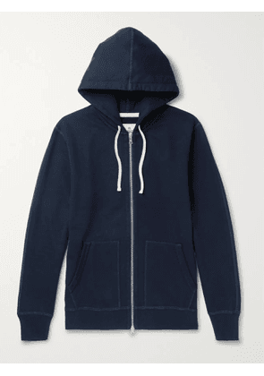 REIGNING CHAMP - Loopback Cotton-Jersey Zip-Up Hoodie - Men - Blue - XS