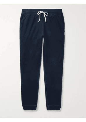 REIGNING CHAMP - Slim-Fit Tapered Pima Cotton-Jersey Sweatpants - Men - Blue - XS