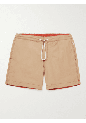 ORLEBAR BROWN - Bulldog Drawcord Mid-Length Cotton-Blend Swim Shorts - Men - Neutrals - 30