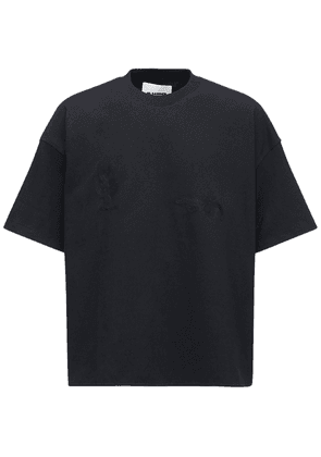 Cactus & Gecko Embroidery Cotton T-shirt