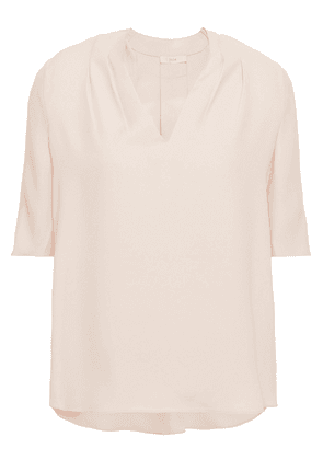 Joie Pleated Crepe Top Woman Blush Size S