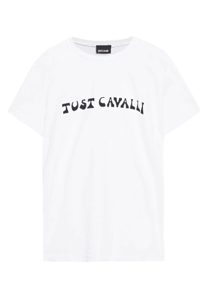 Just Cavalli Printed Cotton-jersey T-shirt Woman White Size XS