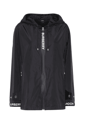 Logo hooded jacket