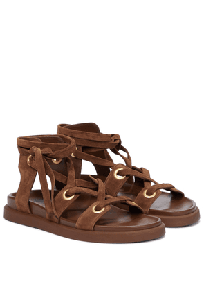 Ibiza lace-up suede sandals