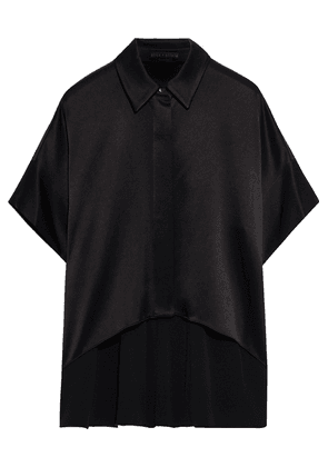 Alice + Olivia Satin-crepe Shirt Woman Black Size XS