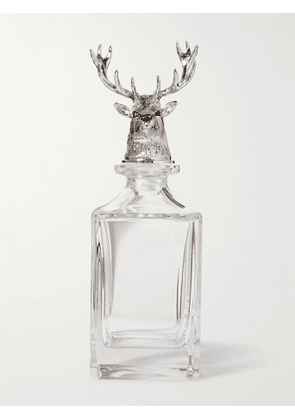 Deakin & Francis - Stag Sterling Silver and Crystal Decanter - Men - Silver