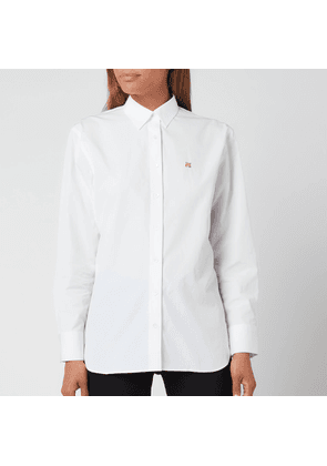 Maison Kitsuné Women's Fox Head Embroidery Classic Shirt - White - XS