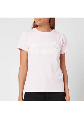 Maison Kitsuné Women's Handwriting Classic T-Shirt - Light Pink - XS