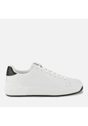 Balmain Men's B Court Trainers - Blanc/Noir - UK 6