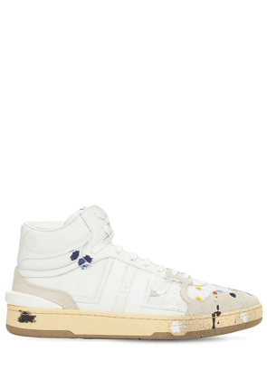 Painted High Leather Sneakers