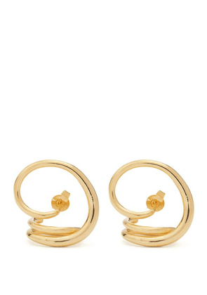 Charlotte Chesnais - Round Trip Gold-plated Earrings - Womens - Gold