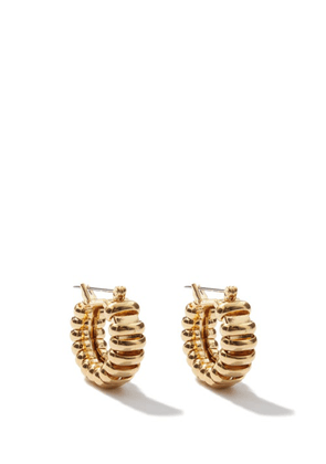 Laura Lombardi - Camilla 14kt Gold-plated Hoop Earrings - Womens - Gold