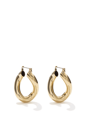 Laura Lombardi - Anima 14kt Gold-plated Hoop Earrings - Womens - Gold