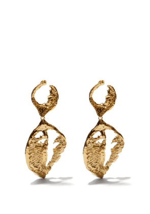 Elise Tsikis - Lucia 24kt Gold-plated Earrings - Womens - Gold