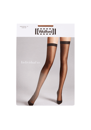 Wolford Individual Sand 10 Denier Hold-ups