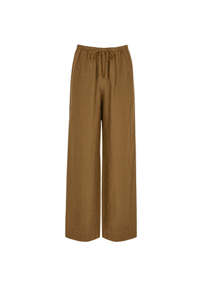Vince Brown Wide-leg Woven Trousers