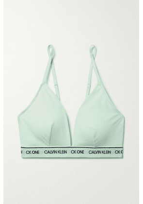Calvin Klein Underwear - + Net Sustain Ck One Jacquard-trimmed Recycled Stretch-jersey Soft-cup Triangle Bra - Mint