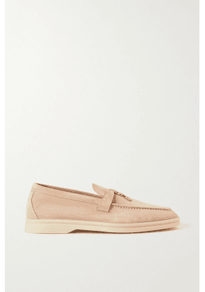 Loro Piana - Summer Charms Walk Suede Loafers - Baby pink