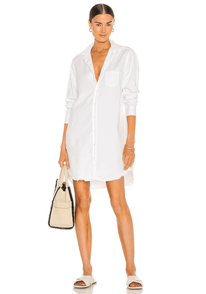 Frank & Eileen Mary Woven Button Up Dress in White. Size S.