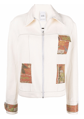 Bethany Williams zipped contrast-patch jacket - Neutrals
