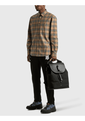 Burberry Nylon and Leather Pocket Backpack