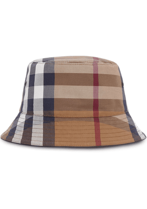Burberry check cotton-canvas bucket hat - Brown
