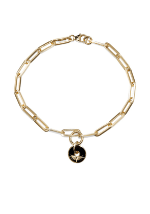 Foundrae Black Wings chain necklace - Gold
