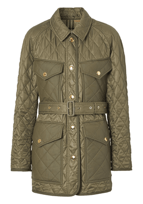 Burberry diamond quilted field jacket - Green