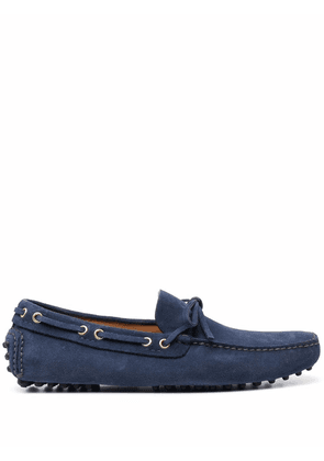 Car Shoe lace-up suede loafers - Blue