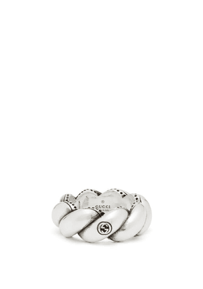 Gucci - Twisted-rope Sterling-silver Ring - Mens - Silver