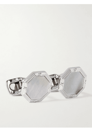 Deakin & Francis - Sterling Silver and Mother-of-Pearl Cufflinks and Dress Studs Set - Men - Silver