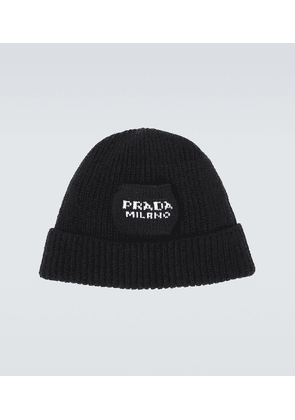 Wool and cashmere-blend beanie
