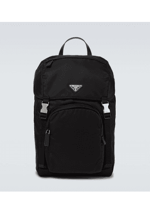 Re-Nylon and Saffiano leather backpack