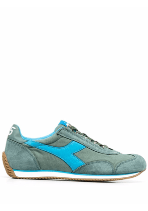 Diadora panelled low-top sneakers - Green