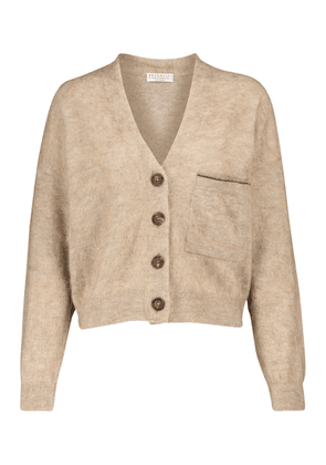 Mohair and wool-blend cardigan