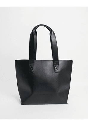 ASOS DESIGN tote bag in black faux leather