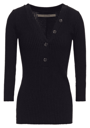 Enza Costa Ribbed Cotton-blend Top Woman Black Size XS