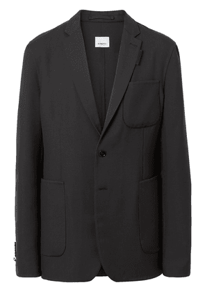 Burberry slim-fit wool tailored jacket - Blue