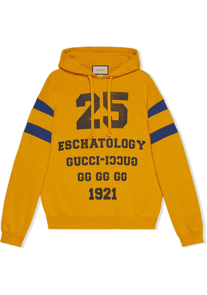 Gucci Blind For Love print hoodie - Yellow